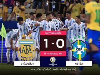 ไฮไลท์ ผลบอล โคปา อเมริกา 2021  บราซิล 0-1 อาร์เจนตินา