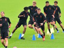 ยูเวนตุสทีมในเซเรียอาฝึกซ้อมสำหรับแชมเปี้ยนส์ลีก